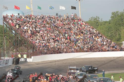Crowd Shot for the 69th Pay Less Little 500 presented by UAW-GM. Dale Pickett Photo