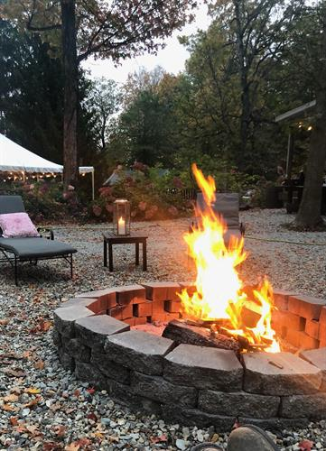 Enjoy sitting by one of our many firepits on a beautiful fall evening.