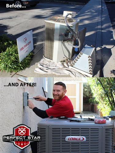 Before and After AC Unit! Perfect Star HVAC Feel The Love 2019