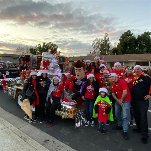 The Perfect Star HVAC family at the Brentwood Holiday Parade 2019