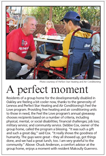 Brentwood Press Feel The Love 2019 Article