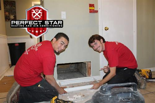 Feel the Love 2019! The Perfect Star Install team are a cut above the rest! (Left to right) David Mendoza and Dade Clifton
