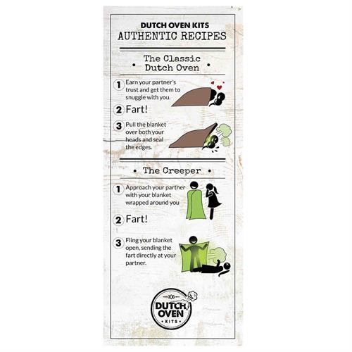 Dutch Oven Kits Fart Recipe Card