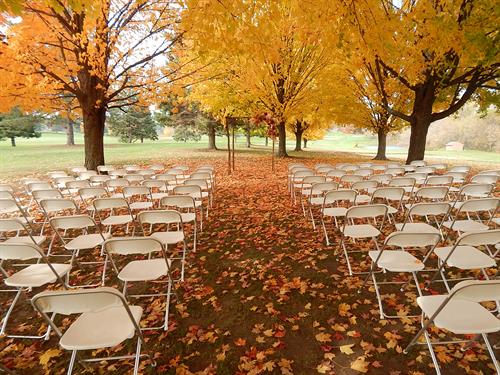 A Fall Wedding Venue