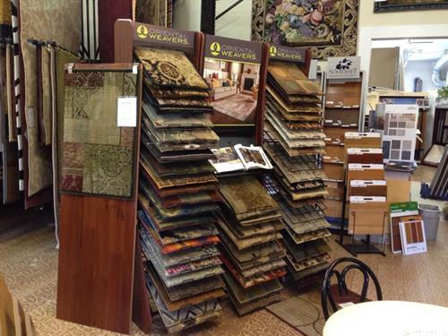 Oriental Weavers Display in Classic Carpet and Floor Covering's showroom
