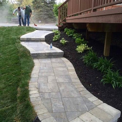 Hardscaping paver walkways.