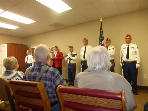 Marine Corps League visit to Be Our Guest Adult Day