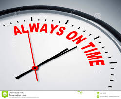 We are always on time for our patients!