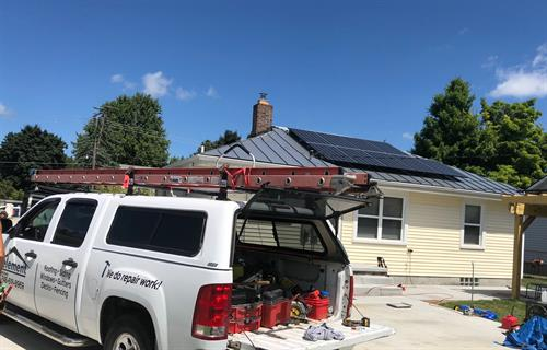 We have solar + roofing packages, call 248-618-8969 to learn more.