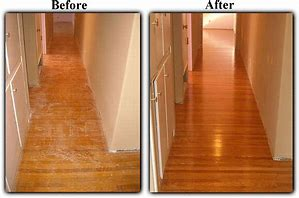 Before & After Wood Floor Refinishing.