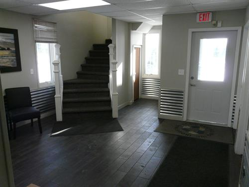 Custom Stair Case to Join Office Levels.
