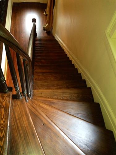 Refinished Treads on Staircase
