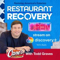Founder and CEO of Raising Cane's Chicken Fingers, Todd Graves, helps New Orleans' own Domilise's