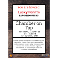 Chamber on Tap-Lucky Penny's~January