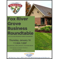 Fox River Grove Business Roundtable with Village President Robert Nunamaker