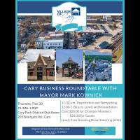 Cary Business Roundtable with Mayor Mark Kownick 2020