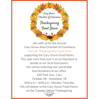 Cary-Grove Chamber Thanksgiving Food Drive