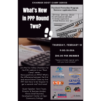 """""""What's New in PPP Round Two?"""" Chamber Boot Camp Series"""