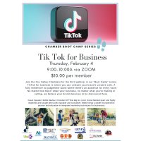 """""""Tik Tok for Business"""" Chamber Boot Camp Series"""