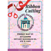 Ribbon Cutting at Cary Dairy Ice Cream Cafe