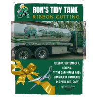 Ribbon Cutting for Ron's Tidy Tank