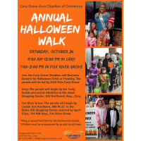 Annual Halloween Walk in Cary and Fox River Grove 2019