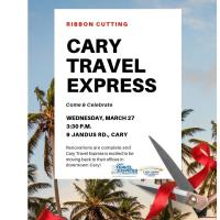 Cary Travel Express Ribbon Cutting