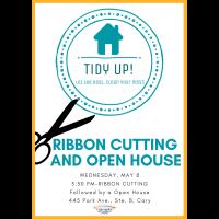 Ribbon Cutting at Tidy Up!