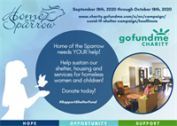 Support Home of the Sparrow's GoFundMe COVID-19 Relief Shelter Campaign!