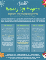Home of the Sparrow: Holiday Gift Program 2020 for Individuals, Groups, & Businesses