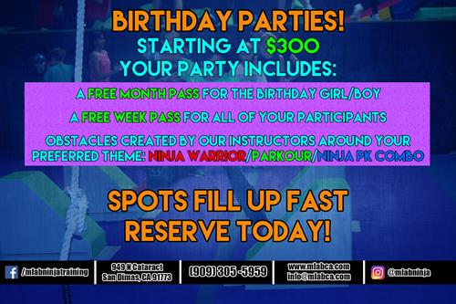 Have your next birthday with us!