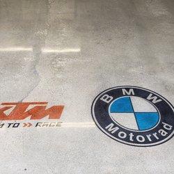Garage Logo Staining in Concrete