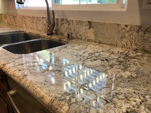 Granite Counter Polishing and sealing