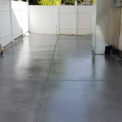 Outdoor Concrete Makeover, Grind, Stain and Seal.