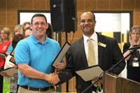 Eric Ewing, a social studies teacher at Mike Moses Middle School, was chosen as the Nacogdoches Independent School District Secondary Teacher of the Year.