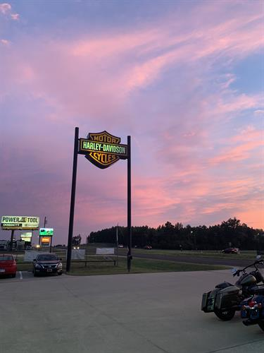 Sunset at Lumberjack Harley-Davidson