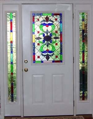 Glass Castles can create stunning stained glass inserts for your front doors.