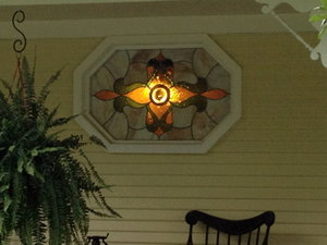 Dress up your front porch and install a new stained glass window made by Glass Castles.