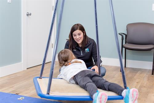 Occupational Therapist Jordan Bell specializes in pediatric therapy and has her own space for working with kids