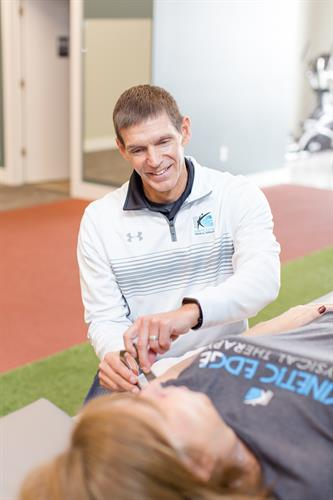 Physical Therapist Matt Scotton also serves as the clinic manager of our Newton location