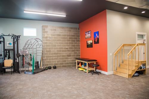 Interior gym space