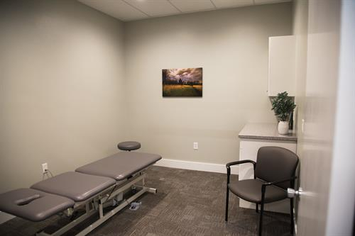 One of our private treatment rooms