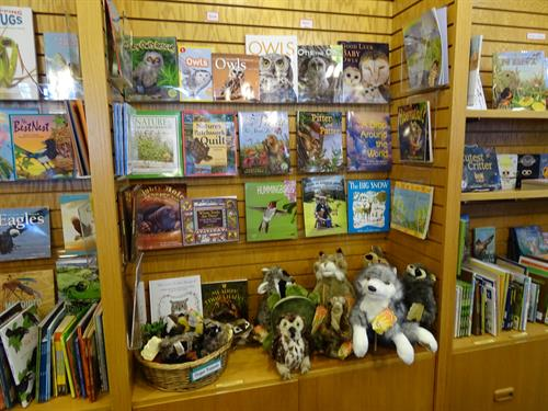 Lots of books and gifts for all ages in the Prairie Point Nature Store