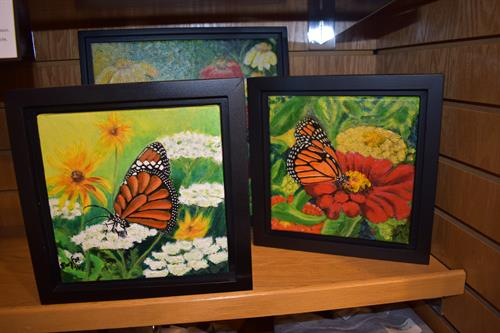 Artwork by local artists for sale at the Nature Store