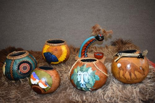 Handcrafted gourds - just beautiful!