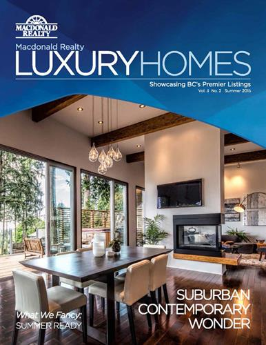 Cover of MacDonald Realty Luxury Homes Magazine