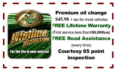 Road Side Assistance with your Oil Change!