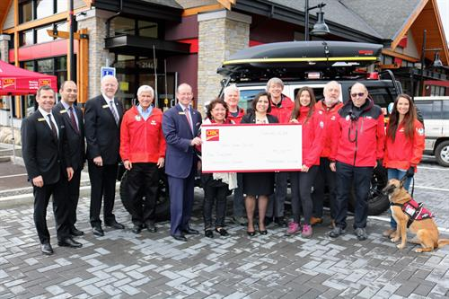 Opening day donation to North Shore Rescue