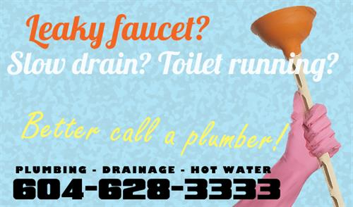 Don't let our name deceive you! We do plumbing repairs and drain clearing too!
