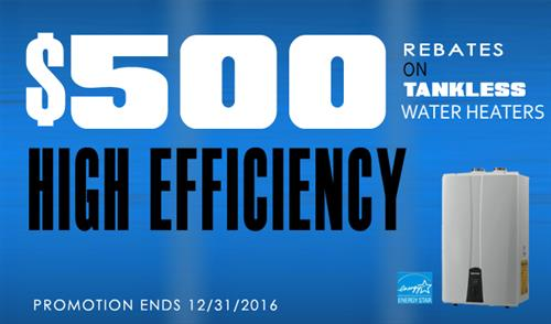 Install a qualified Energy Star condensing tankless water heater and get a $500 FortisBC rebate!